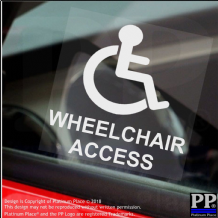1 x Wheelchair Access-Window Sticker-Sign,Car,Warning,Notice,Logo,Disabled,Disability,Badge,Sticker